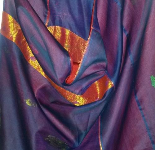 Roze en Koningsblauwe Zijden Jurken voor Aisa Lafour